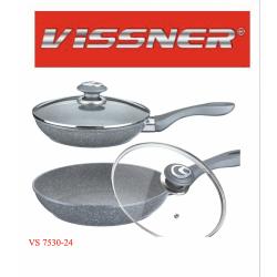 VISSNER Сковорода с крышкой 24см.- VS 7530-24