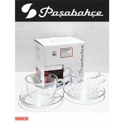 PAŞABAHÇE Tashkent Чашка с блюдцем 4 пред. 290 мл.- 96806