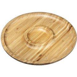 Wilmax.Bamboo.Блюдо кругле 30,5см-2секції WL-771048