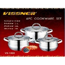 VISSNER Набор посуды 6 пр. VS 1060