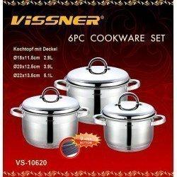VISSNER Набор посуды 6 предметов VS 10620