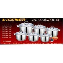 VISSNER Набор посуды 12 предметов VS 12100