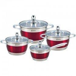 BOHMANN Набор посуды 8 предметов - RS 1818-08 RED