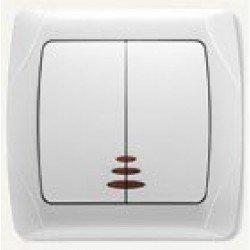 VIKO Carmen Выключатель с подсветкой 2-х клавишный - 90561050