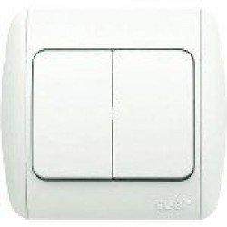 EL-BI  Zirve Выключатель 2х клавишный - 010202